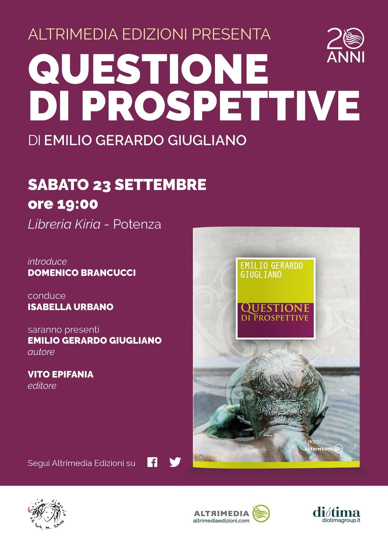 """23 Settembre a Potenza """"Questione di prospettive"""""""