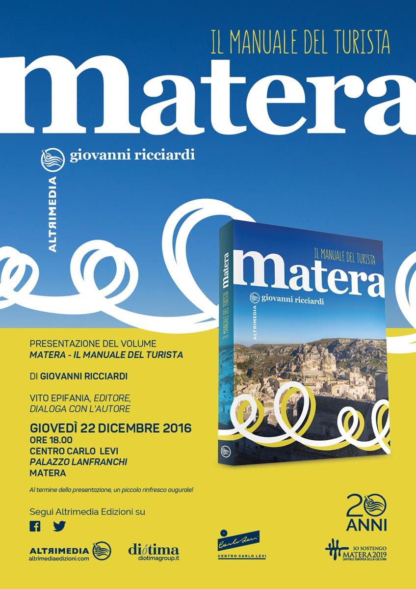 """Presentazione """"Matera. Il manuale del turista"""""""