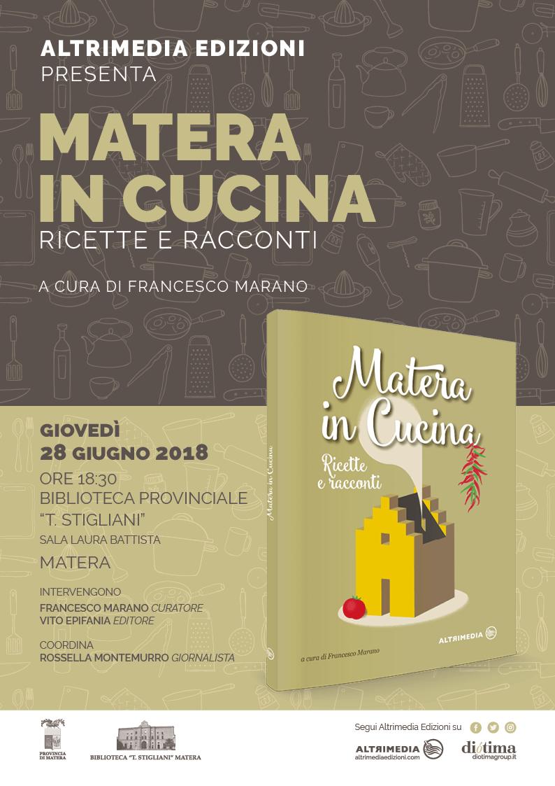 """""""Matera in cucina"""", appuntamento a giovedì 28 Giugno"""