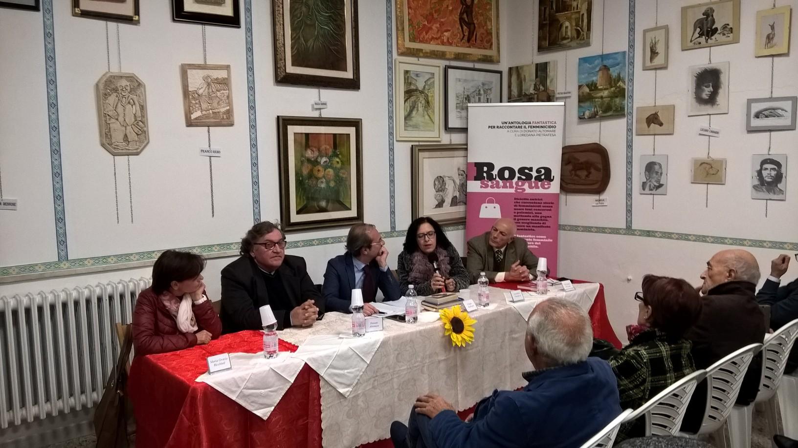 """Presentato a Marconia """"Rosa sangue"""""""