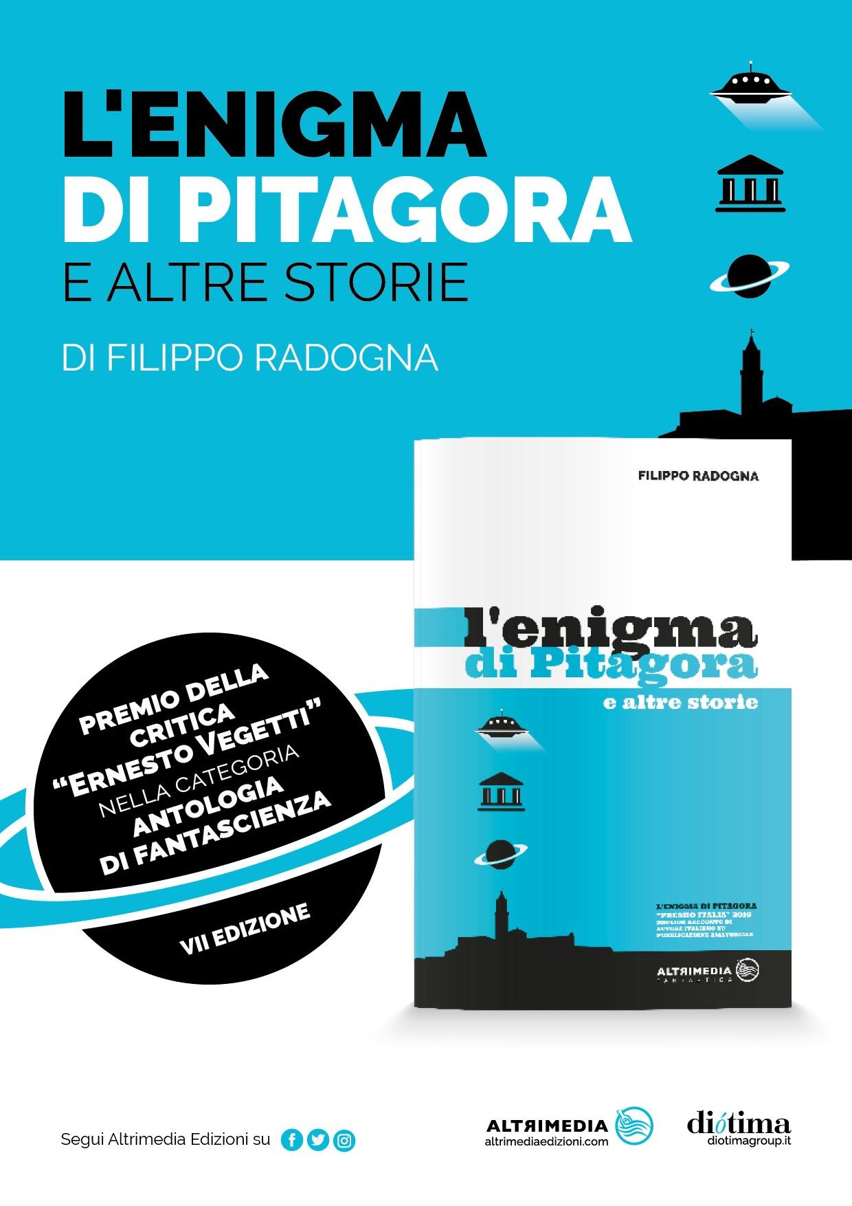 """""""L'enigma di Pitagora e altre storie"""" vince il Premio migliore antologia di fantascienza """"Ernesto Vegetti"""""""