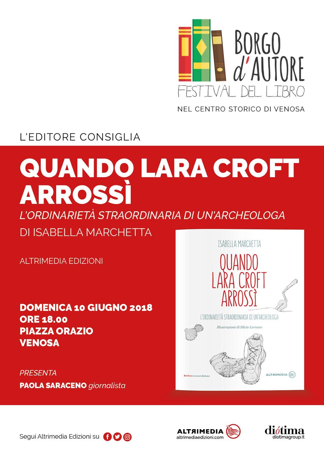 Altrimedia Edizioni al Festival Borgo d'Autore a Venosa